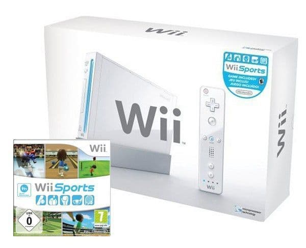 Nintendo Wii Console & Wii Sports (Boxed)