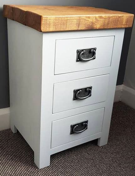 Galleon Bedside Table 3 Drawer