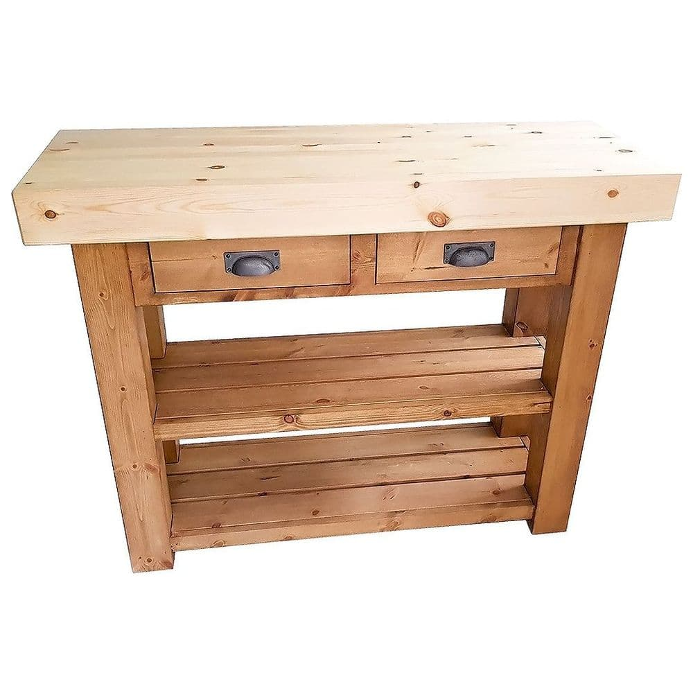Port Isaac Butchers Block Kitchen Island with Drawers