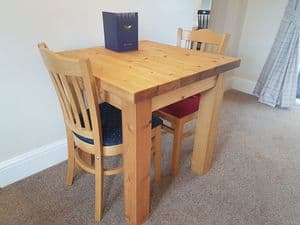Port Royal 30x30 inch dining table.