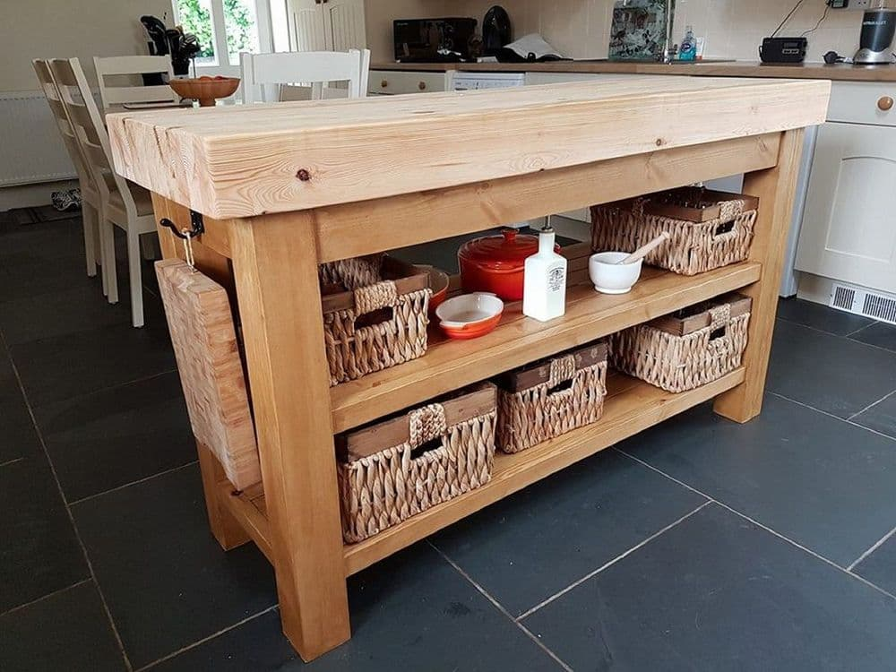Port Royal Butchers Block Kitchen Island