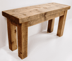 Tortuga Rustic 24 inch wooden bench (end bench for dining tables)