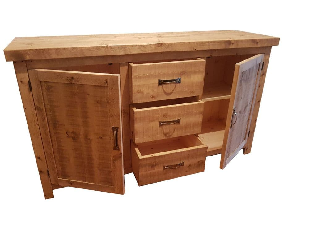 Tortuga Rustic 3 drawer sideboard dresser base