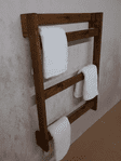 Tortuga rustic wall mounted wooden towel ladder