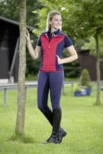 HKM PRO TEAM COUNTY GILET - NAVY / RED - RRP £46.99