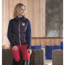 HKM PRO TEAM HICKSTEAD GILET - NAVY / ORANGE - RRP £46.95