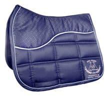 HKM SADDLE PAD-SPORT ACADEMY - NAVY BLUE-RRP £35.95