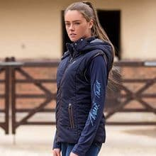 MARK TODD NAVY PADDED LADIES WINTER GILET - RRPP £79.99
