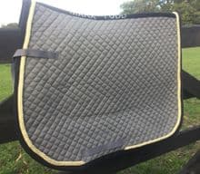MARK TODD SADDLE PAD - GREY GOLD BLACK - SALE