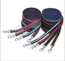 SHIRES WESSEX SOFT FEEL PADDED LUNGE LINE REIN - 8 M/26 FT LONG - NEW COLOURS
