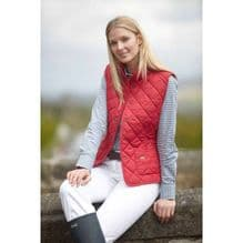 TOGGI ESHER QUILTED ANTIQUE RED  GILET - RRP £50.00