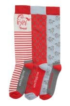 TOGGI PACK OF 3 ALVENY RED  SOCKS - RRP £17.50