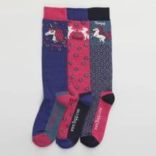 TOGGI PACK OF 3 LACEBY  SOCKS - RRP £17.50