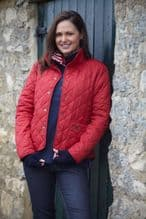 TOGGI SANDOWN QUILTED ANTIQUE RED  JACKET - RRP £80.00