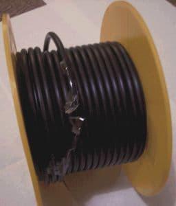 Spark plug wire black