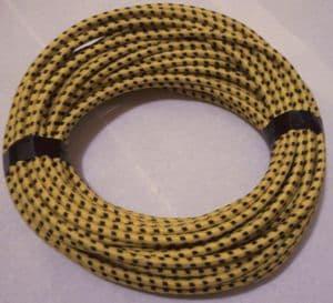 Spark plug wire red Braid